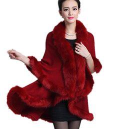 LondonProm @ Ladies Double Layered Faux Fur Trim Cape Soft Ponchos Coat Shawl - One Size (ONE SIZE, RED) LondonProm http://www.amazon.co.uk/dp/B00O131MMM/ref=cm_sw_r_pi_dp_qNRlub14HR3G4