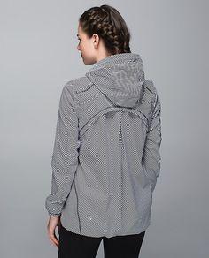 Downtime Jacket  zoomer zip angle white black/black