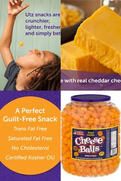 Utz Cheese Balls 35 oz Barrel Utz Cheese Balls 35 oz Barrel Deacon D Frost AkA Buddieizreal xxbuddieizrealxx Tha Munchies Utz Cheese Balls This product contains baked nbsp hellip Cheese Ball Cheese Puffs, Baked Cheese, Cheese Bites, Cheese Ball, Cheddar Cheese, Kosher Snacks, Bite Size Snacks, Cheese Cultures, Cheese Snacks