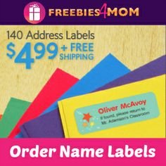 Do you need kids Name Labels for school next year?  $4.99 #DEAL http://freebies4mom.com/140-labels-for-4-99/