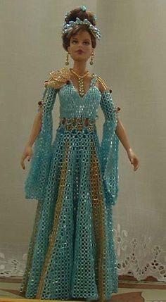 Beaded dress for Barbie...that is just too cool