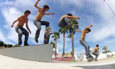 Toma fotos como estas en el modo photoburst de tu Drift HD Ghost y Ghost-S! Skateboard!