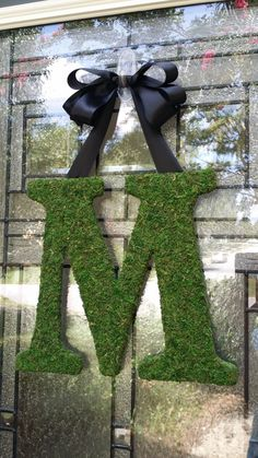"Moss Letter Monogram ""M"",Moss Initial Wreath for Front Door,Wedding Monogram,Church Door Letter,Barn Wedding decor,Monogram Gallery Wall on Etsy, $29.50"