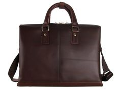 Leather #Men's Laptop #Briefcase Handbag with Large Compartments