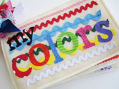 My Colors Fabric/Quiet Book