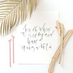 Cinco De Mayo Calligraphy Printable //  Margarita Quote