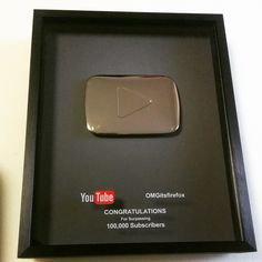 """As I'm approaching 400k on my YouTube channel.. It's nice to finally get this in the mail, haha!! Thank you foxx family for being amazing and growing with…"""