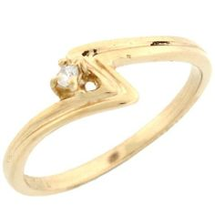 10k Yellow Gold Unique Round Cut Diamond Solitaire Promise Ring Jewelry Liquidation. $96.51. Made with Solid 10k Gold!. Comes with FREE fancy black leatherette ring box!. Made in USA!. Save 90% Off!