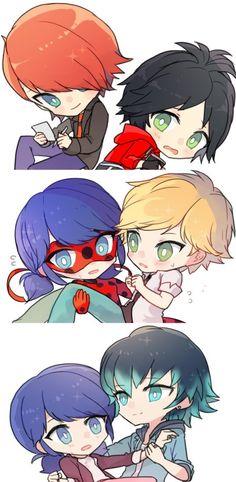 †┏┛じゃこ/쟈코┗┓† (@jyaco_ml) / Twitter Meraculous Ladybug, Ladybug Comics, Anime Chibi, Kawaii Anime, Adrien Y Marinette, Miraculous Ladybug Fan Art, Cat Noir, Cute Comics, Cute Chibi