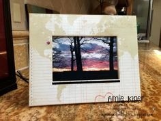 Easy wooden frame makeover!  Used the Memo Fundamentals from CTMH.