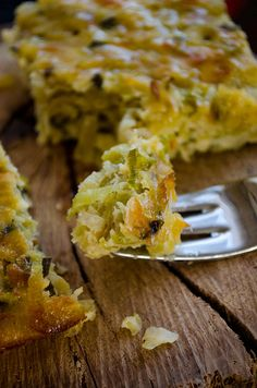 Leek frittata. 1lb chopped leek, 1 tsp ground black pepper, 2 boiled potatoes, 3 eggs, 1/2c feta, 1c mozzarella, 1/4c milk, 1/4c olive oil, 3T flour, 1/2t baking powder.  Instructions: Oven at 375. Saute chopped leek with pepper, cool it. Whisk eggs, add milk, feta, mozzarella, olive oil, flour, and baking powder. Mix well with a spatula.  Mash potatoes and add it into the mixture.  Brush a baking pan with olive oil and transfer the mixture into the pan. Bake for 45 mins or until golden.