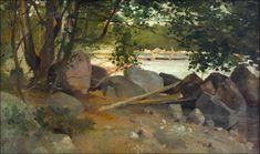 Beach at Haikko, Oil by Albert Edelfelt (1854-1905, Finland)