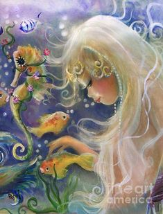 *MERMAID ~ The Gathering Print By Robin Pushay: