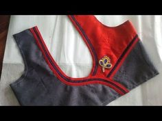 simple and easy blouse back neck designe cutting and stitching at home 2017 - YouTube
