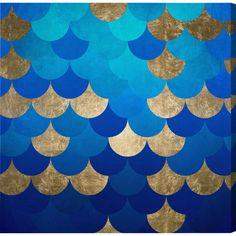 Mermaid Scales Canvas Print, Oliver Gal