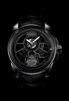 Enorme coup de coeur pour ce modèle Cartier total black. www.leasyluxe.com #cartier #luxurywatches #leasyluxe