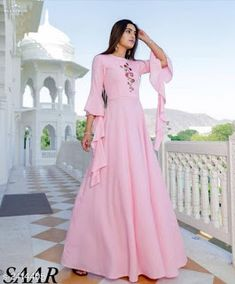 Tanya Pretty Rayon Embroidery Kurtis Vol 2 Fabric: Rayon Sleeves: Sleeves Are Included Size: M - 38 in, L - 40 in, XL - 42 in Length: Up To 54 in Type: Stitched Description: It Has 1 Piece Of Women's Kurti Work: Embroidery Dispatch: 4 - 5 Days Pink Wedding Dresses, Wedding Gowns, Frock Design, Latest Dress, American Women, Indian Dresses, The Dress, Palazzo, Frocks
