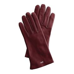 Mark & Graham Women's Italian Leather Classic Glove, 6.5, Extra-Small,... found on Polyvore featuring accessories, gloves, oxblood, cashmere-lined leather gloves, leather gloves and lined gloves