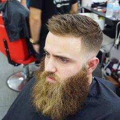 hipster haircut with beard