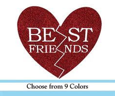 Best Friends Heart 2 pieces vinyl Iron by AwesomePossumShoppe