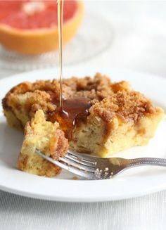 Cinnamon Baked French Toast Recipe on twopeasandtheirpod.com Prepare the night before and bake in the morning! #breakfast