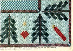 Bordado Tipo Chicken Scratch, Chicken Scratch Embroidery, Swedish Weaving, Gingham Fabric, Christmas Cross, Hand Stitching, Embroidery Stitches, Bohemian Rug, Diy And Crafts