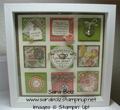 stampin up shadow box   Tea for Two-Shadow Box Class. Stampin' Up! Stampin' with Sara on ...