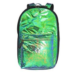 Emma Mulholland Iridescent Backpack ❤ liked on Polyvore featuring bags, backpacks, backpack, knapsack bags, rucksack bag, green bags, iridescent backpack and green backpack