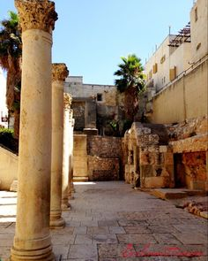 Cardo, Jewish Quarter, Old City of Jerusalem, Israel. I was right there! What a thrill!