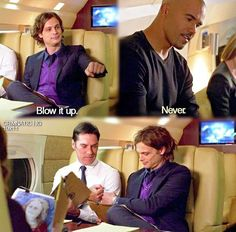 Criminal Minds <<<<<<lol, love this, just watched this episode earlier today Criminal Minds Memes, Spencer Reid Criminal Minds, Dr Spencer Reid, Thomas Gibson, Behavioral Analysis Unit, Brooklyn 9 9, Crimal Minds, Movies And Series, Tv Series
