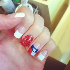 For my patriotic Texan friends.....Fourth of July nails