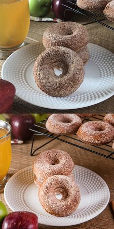 Apple Cider Donuts are the perfect fall breakfast or dessert. Semi homemade but delicious donuts from Apple Cider Donuts are the perfect fall breakfast or dessert. Semi homemade but delicious donuts from 176766354112906683 Easy Donut Recipe, Baked Donut Recipes, Baked Donuts, Apple Recipes, Pumpkin Recipes, Doughnuts, Delicious Donuts, Delicious Desserts, Yummy Food