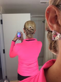 My hair for the American Smooth portion of the Capital DanceSport Championship ballroom competition.