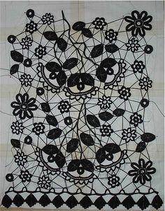 Irish Crochet lace shirt or top  crochet pattern