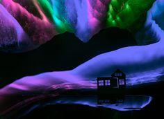 Aurora | light painting, light brush, long exposure, still life, stilllifescape, north, glowing, shining, sky, rocks, home, lake