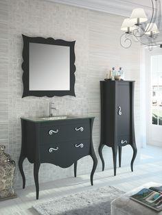 Kreiern Sie mit dem Badezimmer Set 100 cm schwarz lackiert Ihr persönliches Königinnen-Badezimmer! Die verspielten Formen und edlen Ornamente aus Metall verwandeln Ihre Nasszelle in ein Luxus-Bad!