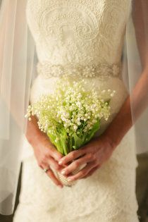 Love the lily of the valley bouquet and the dress!