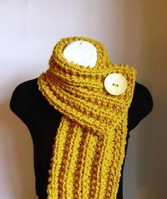 Mustard Yellow Chunky Knit Cowl.
