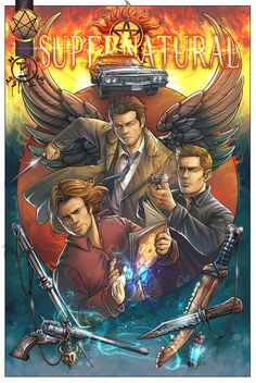 Comission made for one of my bidders on Her request was a comic book cover for Team Free Will! :) Thank you for take part in Fic Facers auction! Supernatural Drawings, Destiel, A Comics, Movie Tv, Fox, Fan Art, Books, Movie Posters, Sketching