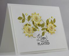 Bloom where you are planted card  by Ange @ Creative Inspirations