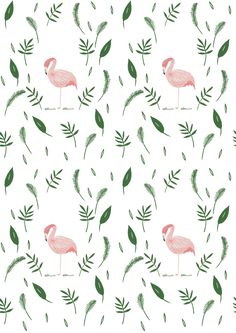 Flamingo leafy nature pattern design / This would be a most wonderful wallpaper feature! Cute Pattern, Pattern Art, Pattern Design, Nature Pattern, Print Design, Illustration Inspiration, Pattern Illustration, Flamingo Illustration, Funny Illustration