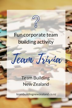 Team Trivia Challenge is a night activity, which will boost your teams problem-solving and cooperation skills. The participants will have puzzles to solve and riddles to answer, do their best in answering general knowledge questions, and think out of the box in order to outplay their competitors!  Make your next corporate event one to remember! Get in contact today teambuildingnewzealand.co.nz #teambuilding #workplace #teamwork #corporate