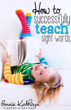 Great ideas for teaching sight words!
