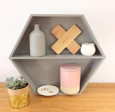 Top 10 easy kmart hacks using the kmart arrow light, plant stand, pineapple jar, shadow box, kmart house and hanging mirror for the Oh So Busy Mum Home Decor Inspiration, Walmart Home, Home Decor Hacks, Kmart Hacks, Hexagon Shelves, Home Decor, Hanging Mirror, Hexagon, Bath And Beyond Coupon