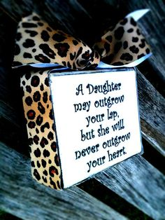 A Daughter Wood Block Sign