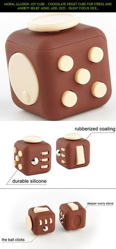 Moral Illusion Joy Cube - Chocolate Fidget Cube For Stress And Anxiety Relief ADHD, ADD, OCD - Silent Focus Dice With Extra Durable Silicone For Children And Adults - Quality Inspected Product #parts #products #plans #silicone #drone #fidget #racing #gadgets #technology #kit #fpv #tech #camera #shopping #cube