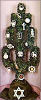 The Jesse Tree represents the family tree, or genealogy of Jesus Christ. It tell… The Jesse Tree represents the family Christmas Time Is Here, All Things Christmas, Christmas Holidays, Christmas Wreaths, Jesse Tree Symbols, Jesse Tree Ornaments, Advent Activities, Advent Season, Knooking