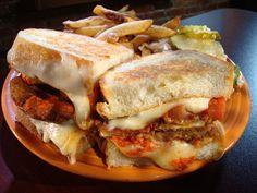 Grilled Cheese Chicken Parmesan Sandwich