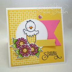 Card by Mrs. Graceworks using Egg-stra Special, Easter Joy and Hoppy Easter from Verve.  #vervestamps
