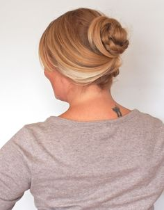 easy up-do for medium and long hair